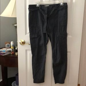 Marine blue cargo pants from loft outlet
